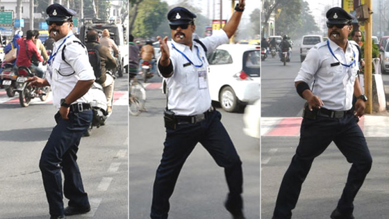 Ranjeet Singh Dancing Traffic Cop