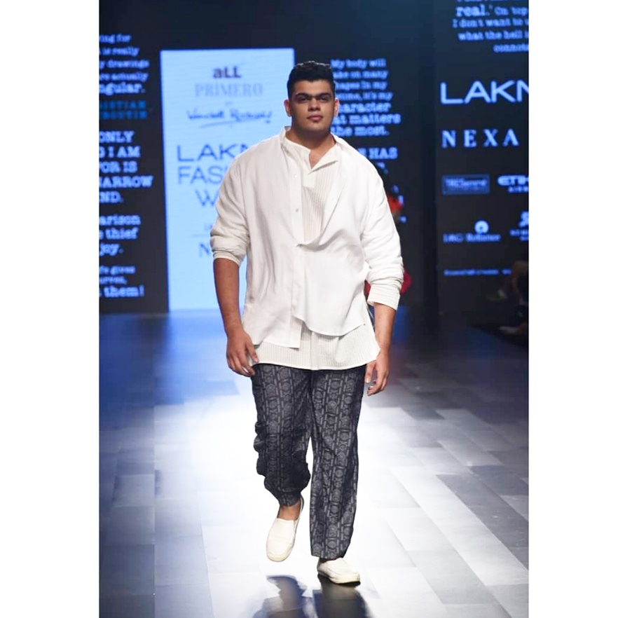 Kais Sundrani Plus-Size Model Men