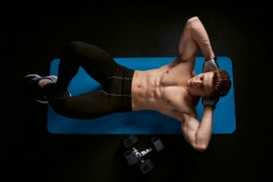 male six-pack abs exercise