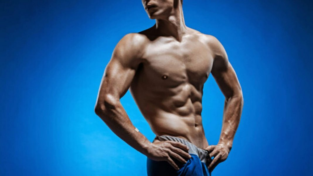 male six-pack abs