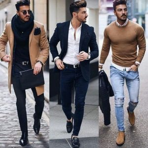 man in different dress