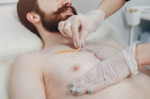 waxing for men's hair