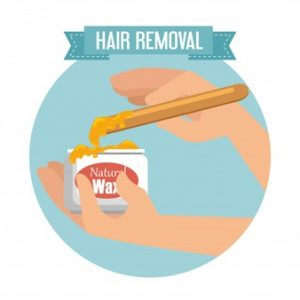 Hair removal body waxing for men