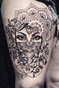 All-Seeing Eye Mandala Tattoo