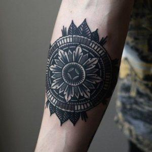 Arms Men's Mandala Tattoo