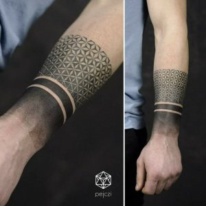 Dotwork Hand Band tattoo for Men