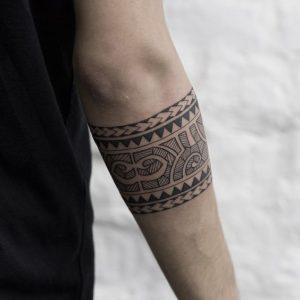 Eastern Inspired hand band tattoo for men