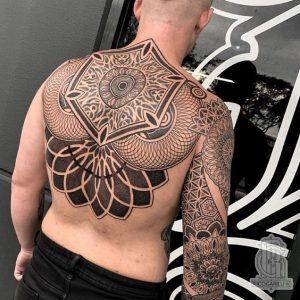 Extra detailed mandala tattoo for men