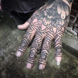 Fingers Mandala Tattoo for Men