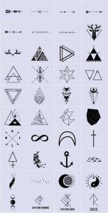 Geometric Finger Tattoos for men