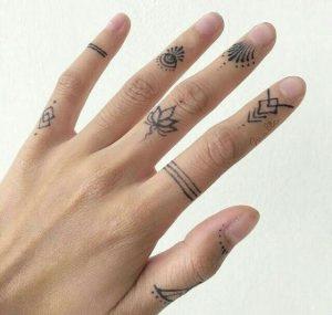 gypsy finger tattoo for men