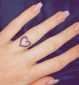 Heart Finger Tattoos for men