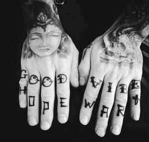 Letter Finger Tattoos for men