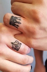 Matching Couples Finger Tattoos for men