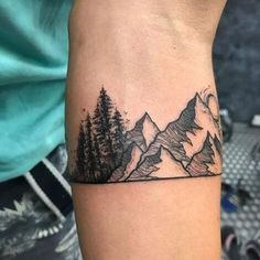 Nature Band tattoos for men