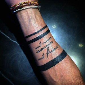 Quote Style Band tattoos for men
