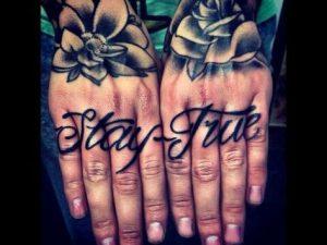 Wording Finger Tattoos for men