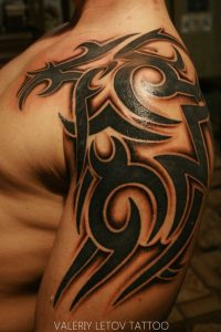 tribal men's tattoo