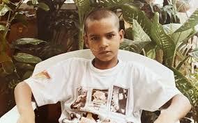 Shikhar Dhawan Hairstyle in childhood