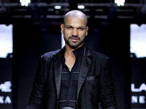 Shikhar Dhawan Hairstyle ramp walk