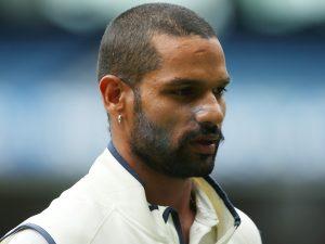 Shikhar Dhawan Hairstyle on field