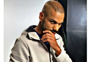 Shikhar Dhawan Hairstyle in hoodie